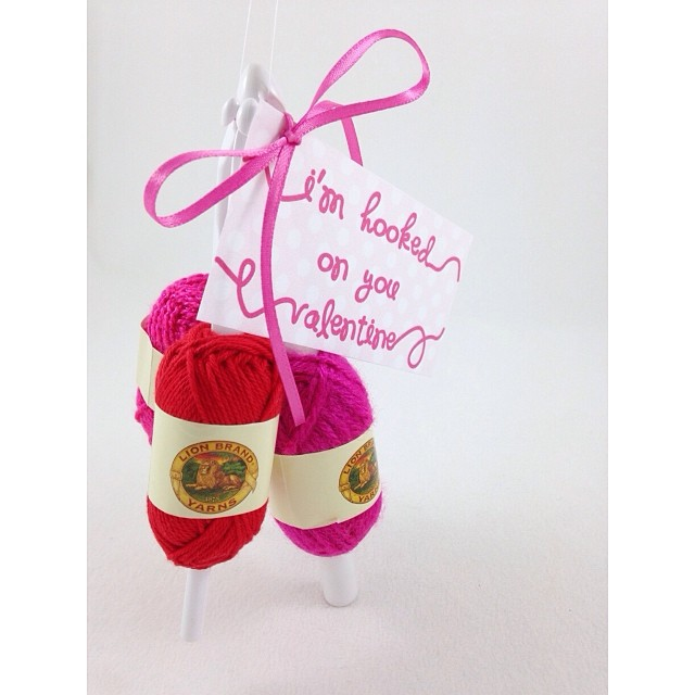 hooked on you yarn valentines