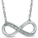 Zales: Diamond Accent Infinity Necklace in Sterling Silver Only $24.99 w/ Promo Code!
