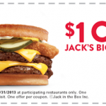 Jack in The Box – $1 Off Printable Coupon For Jack's Big Stack