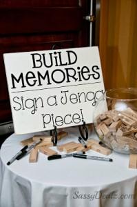 DIY Wedding Jenga Guestbook Idea (Reception Decor)