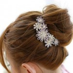 Flower Crystal Hair Clip ONLY $1.90 + Free Shipping!