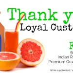 FREE 59oz Bottle of Indian River Select Premium Grapefuit Juice Coupon! (First 5,000)