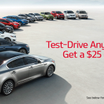 Test-Drive Any New Kia, Get a $25 Visa Card!