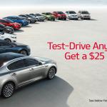 Test-Drive Any New Kia, Get a $25 Visa Card!