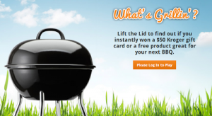 Play 3 Kroger Instant Win Games – I WON TWICE ALREADY! (BBQ, Pets, $50 Prizes)