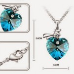 Lady Swarovski Elements Crystal Heart Pendant Necklace ONLY $1.59 + Free Shipping!