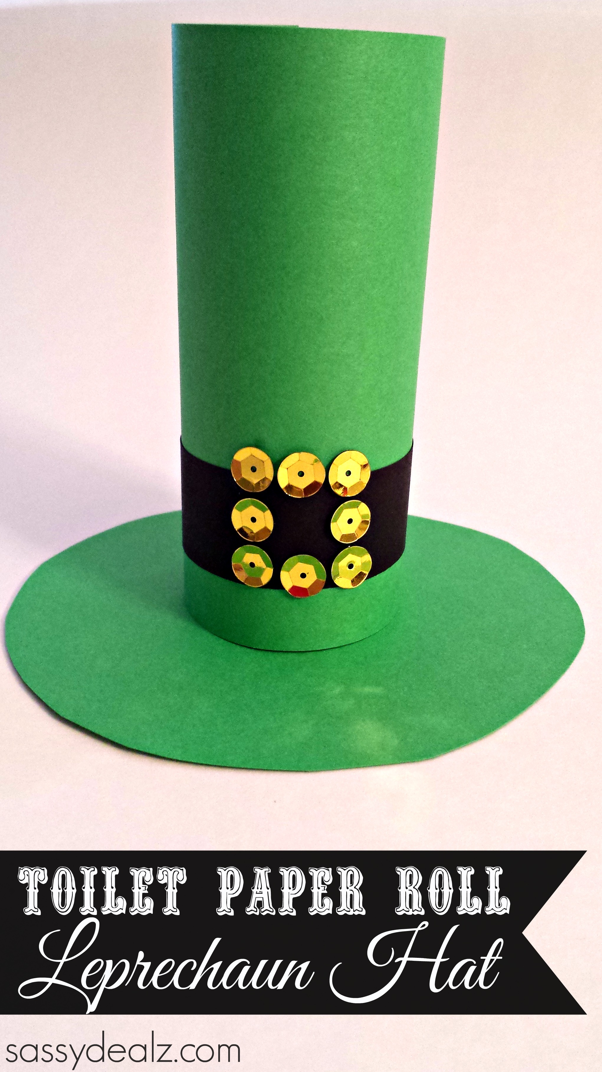 Leprechaun hat toilet paper roll craft for st patricks day st patrick toilet paper roll hat jeuxipadfo Choice Image