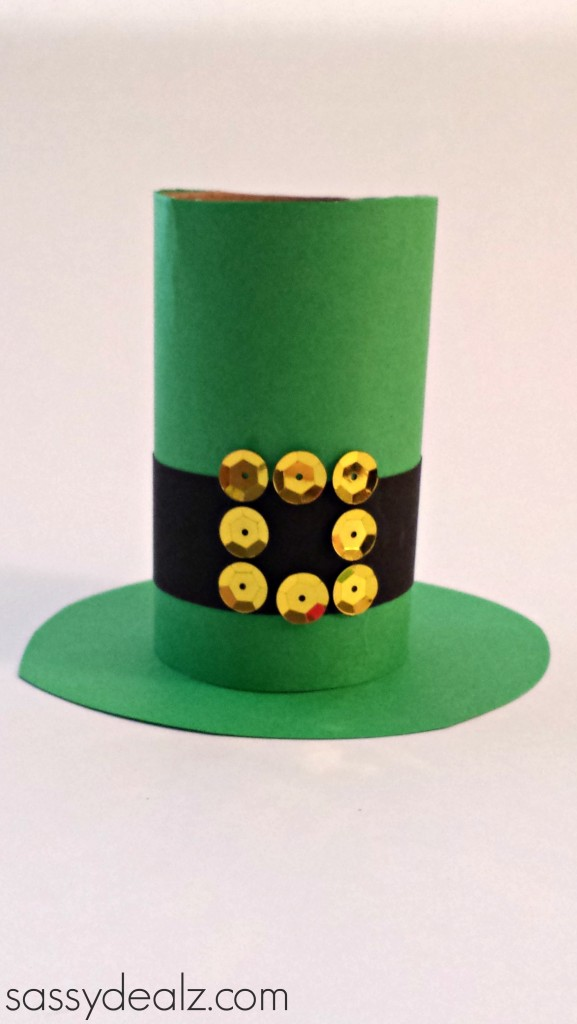 leprechaun hat toilet paper roll craft