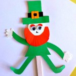 Popsicle Stick Leprechaun Puppet Craft for St. Patrick's Day