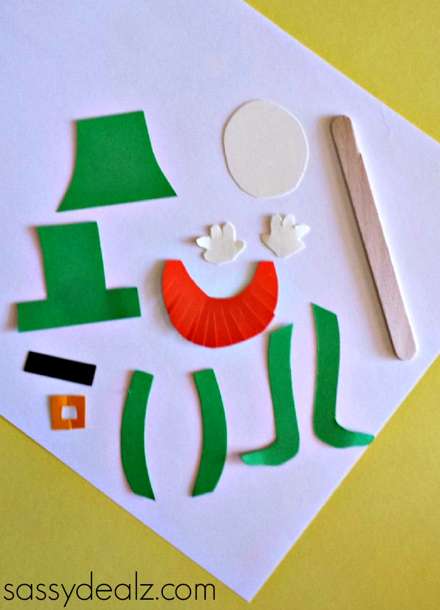 Popsicle Stick Leprechaun Puppet Craft For St Patricks Day
