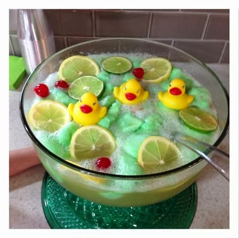 lime sherbet punch recipe rubber ducky baby shower idea crafty
