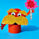 Lorax Toilet Paper Roll Craft For Kids (Dr. Suess)