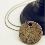 """Love Beyond the Moon & Stars"" Pendant Necklace Just $3.68 Shipped (Reg. 19.99!)"