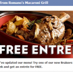 Macaroni Grill- Get a FREE Entree w/ Purchase of Braiser Using Printable Coupon (Thru 8/18)