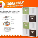 Home Depot- Get a Martha Stewart Living 8 Cube Organizer w/ Fabric Bins for ONLY $29 Shipped (Today Only!)