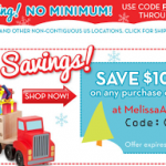 Melissa & Doug: $10 off $60 + Get FREE Shipping w/ Promo Code (Exp 12/4)