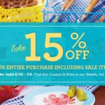 Michaels 15% Off Entire Purchase (Including Sale Items) Printable Coupon