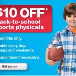 $10 off Back to School Sports Physicals at Minute Clinics