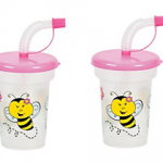 12 Molded Bee Cups With Lids & Straws ONLY $1.79 + Free Shipping (Reg $20!)