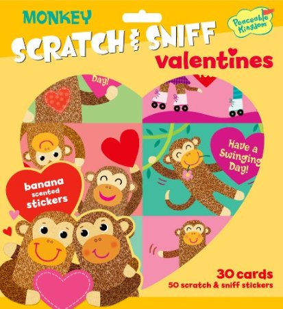 monkey scratch sniff valentines