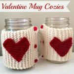 DIY Valentine Mug Cozies (Knitting)