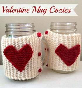 knit valentine mug cozie