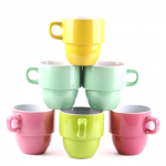 Francois et Mimi 6 Piece Large-Sized Stacking Mug Set Only $11.95 Shipped