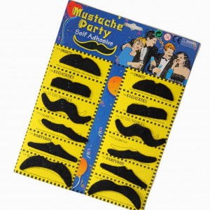 12 Self Adhesive Mustaches Only $1.22 + Free Shipping