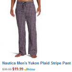 Nautica Men's Sleep Pajama Pants 44% Off on Amazon!