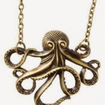 Vintage Bronze Octopus Necklace Only $0.65 + Free Shipping!