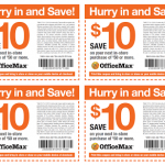 Office Max $10 Off a $50 Purchase Printable Coupon (Save For Back To School Shopping!)