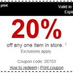 Staples 20% Off In-Store Printable Coupon
