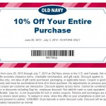 Save 10% On Your Entire Old Navy Purchase Printable Coupon + $1 Flip Flops