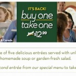 Olive Garden: Buy One Entree, Take One FREE is back!
