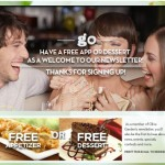Olive Garden – FREE Appetizer or Dessert w/ Purchase of 2 Entrees Printable Coupon ($10 Value!)