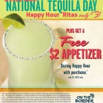 On The Border- Happy Hour Margaritas Only $3 + Free $2 Appetizer Coupon (TODAY ONLY- 7/24!)