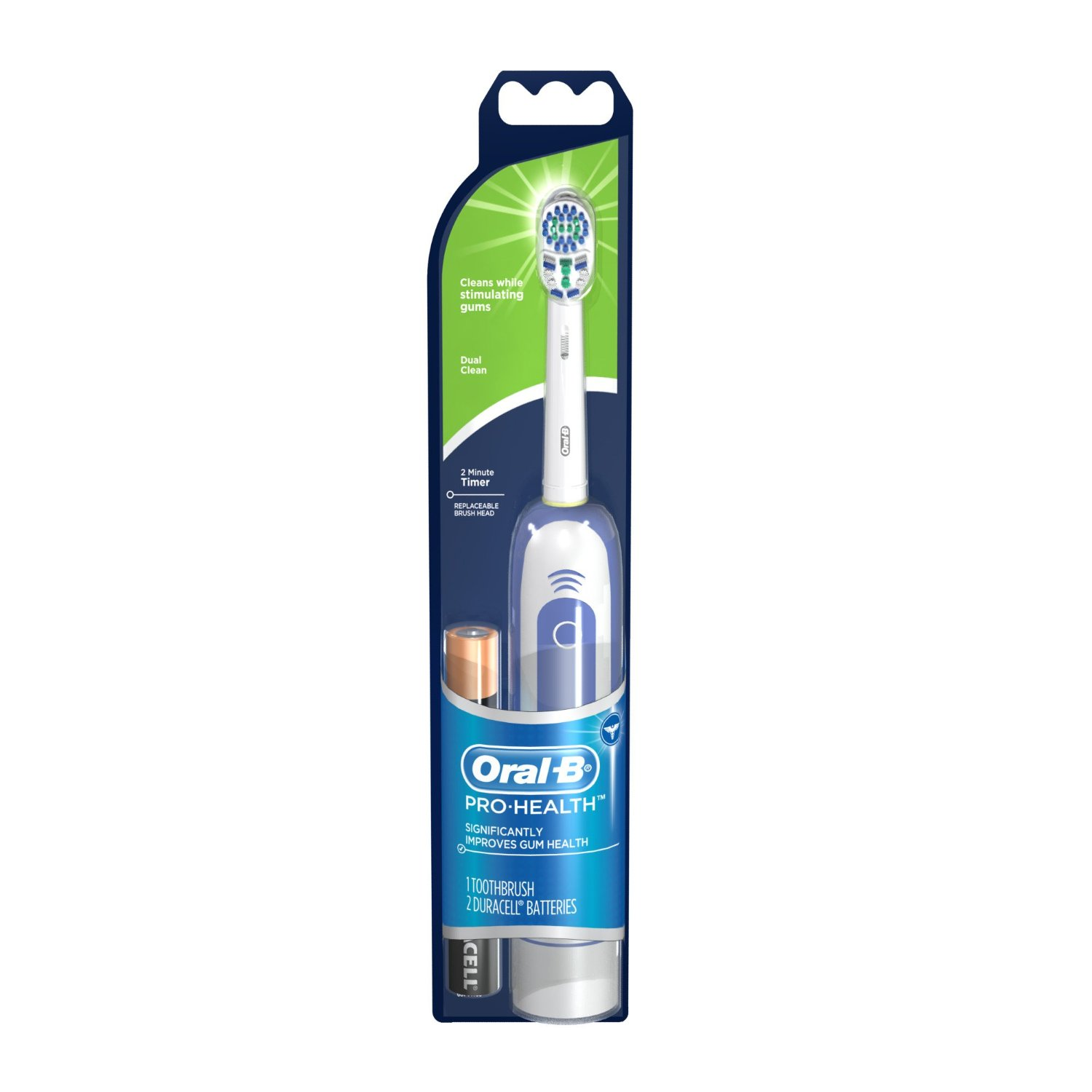 The Oral-B PRO provides a clinically proven superior clean vs. a regular manual toothbrush: Remove % more plaque along the gum line than a regular manual toothbrush.