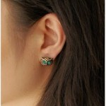 2 Pairs of Vintage Bronze and Crystal Owl Head Stud Earrings ONLY 99 Cents + Free Shipping!