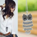 Vintage Silver Owl Necklace ONLY $0.99 + Free Shipping!