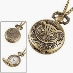 Bronze Owl Pocket Watch Necklace Only $2.99 + Free Shipping