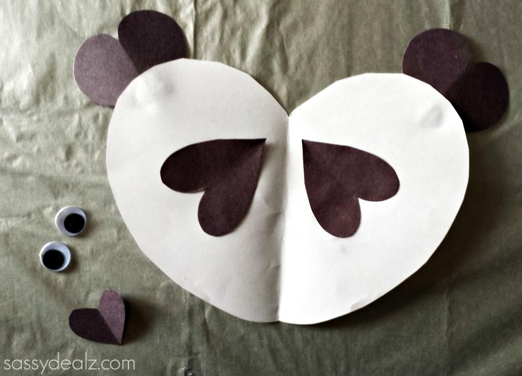 panda bear heart craft