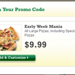 Papa Johns Large Pizza (Up to 5 Toppings or Specialty) Only $9.99 Promo Code
