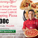 Papa Johns: Buy One Large Pizza, Get One For 30 CENTS w/ Promo Code! (Exp 1/4)