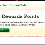 Papa John's: Get a Free Pizza on a Future Order When You Spend $15 w/ Promo Code (Exp 9/15)