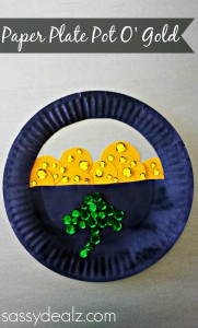paper plate pot of gold craft