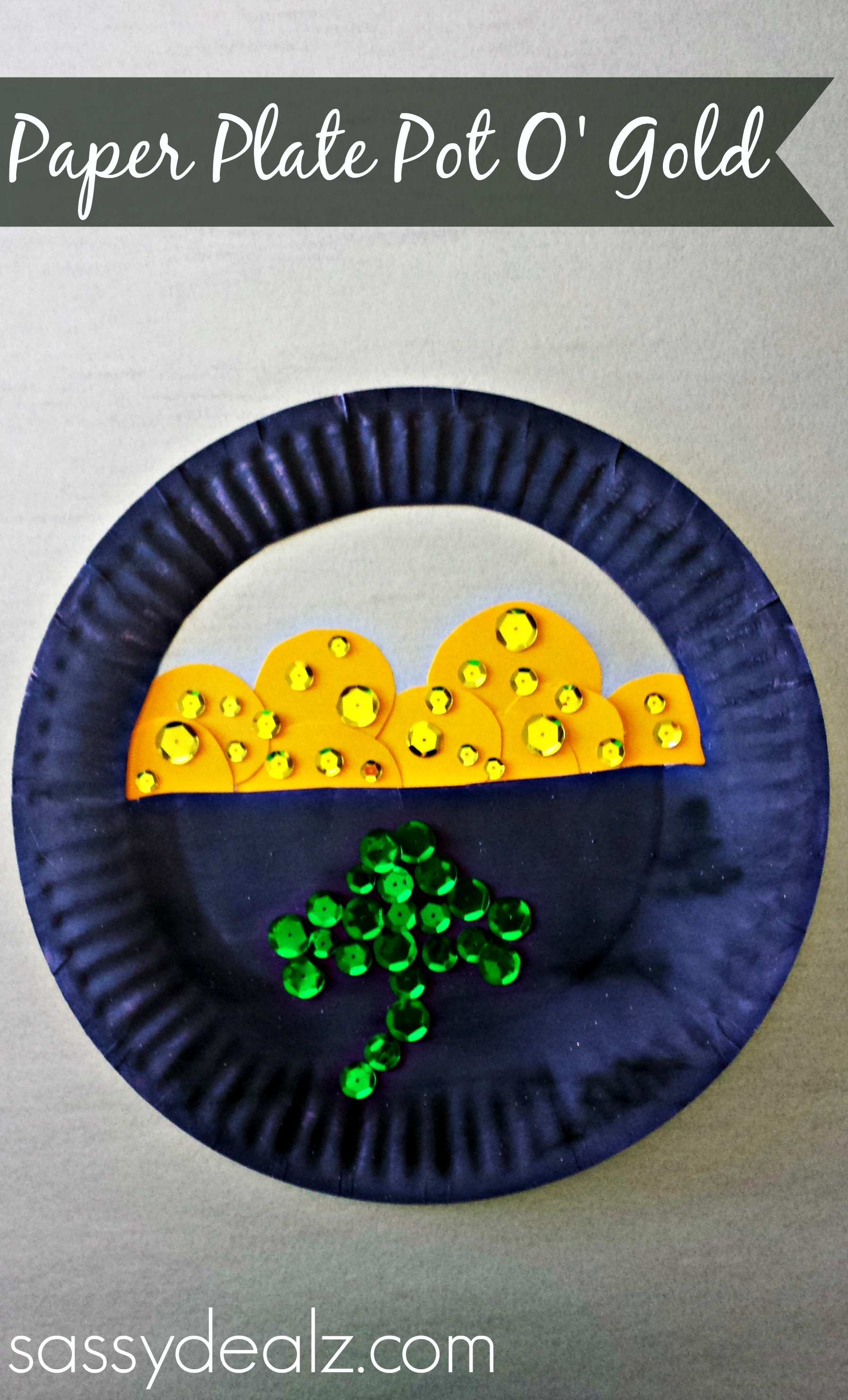 paper plate pot of gold craft Paper