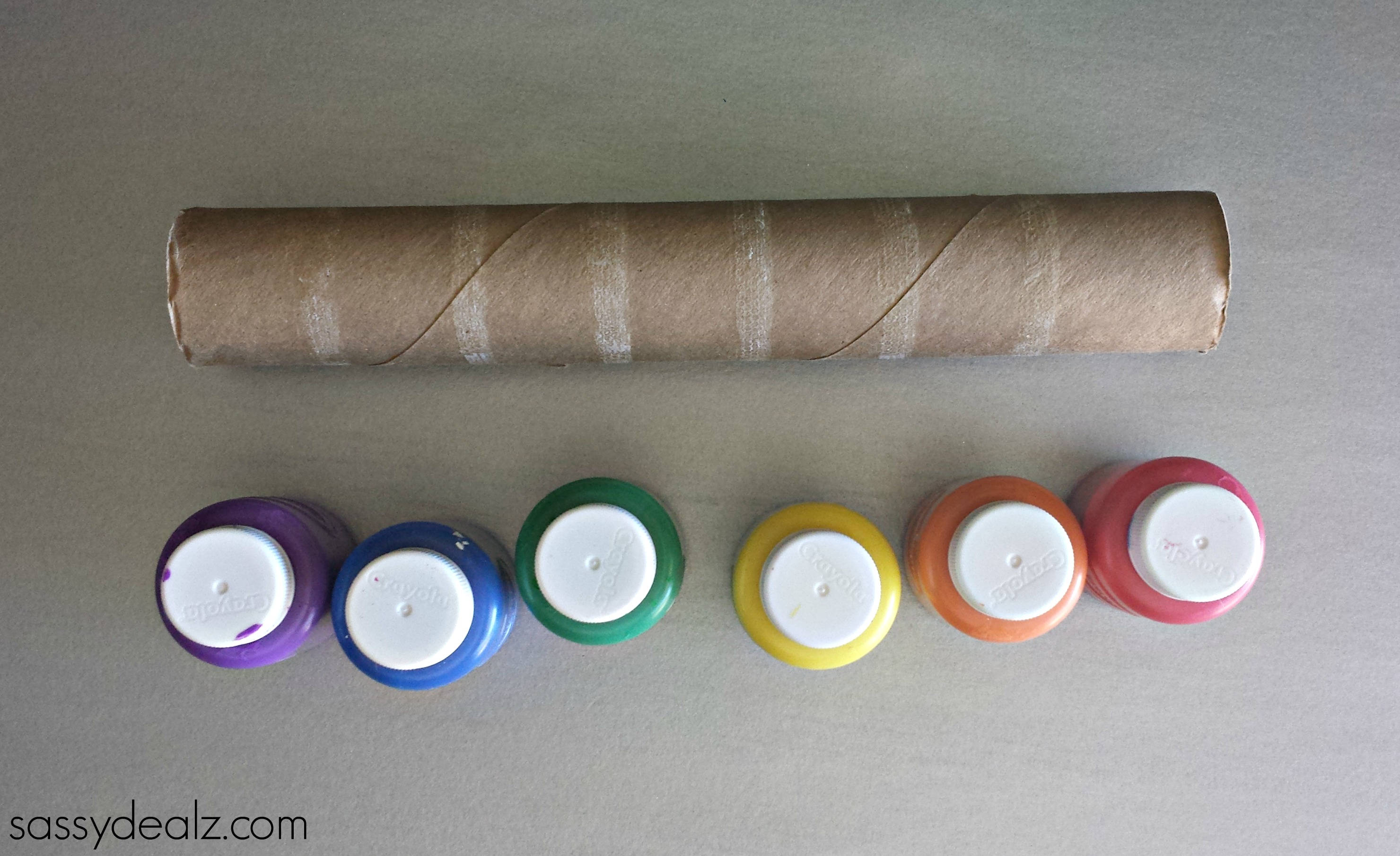 Rainbow Paper Towel Wind Catcher Craft For Kids Crafty Morning