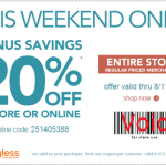 Payless Shoes – Get 20% Off Entire Purchase w/ Online Promo Code (Thru August 11th)