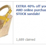 Payless Shoes- Get 40% Off Entire Stock Sandals In-Store and Online Coupon! (ENDS TODAY!)