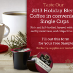 Free Sample of Peet's Holiday Blend Coffee K-Cups